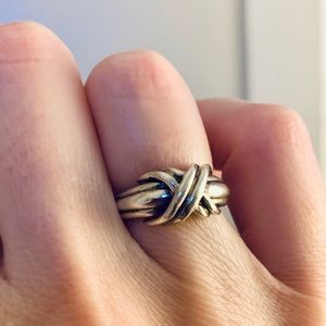 Tiffany Sterling Signature X Ring - Size 6.5 ❤️